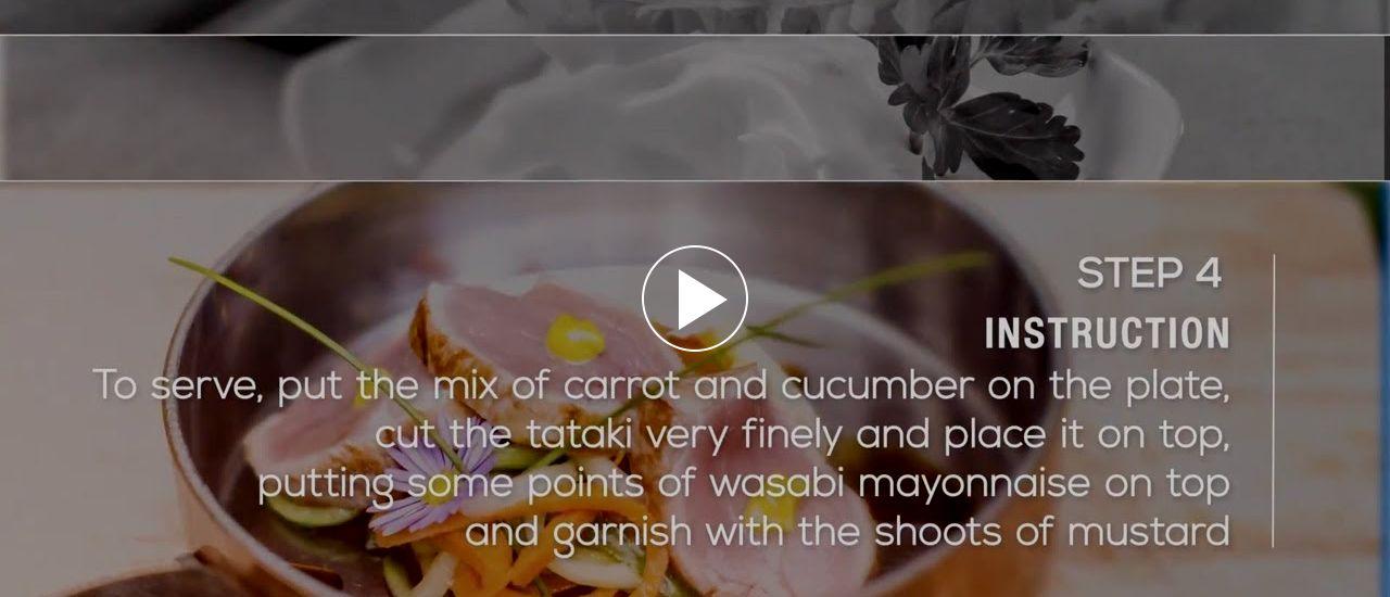 Embedded thumbnail for Tataki of Iberian pork with wasabi mayonnaise