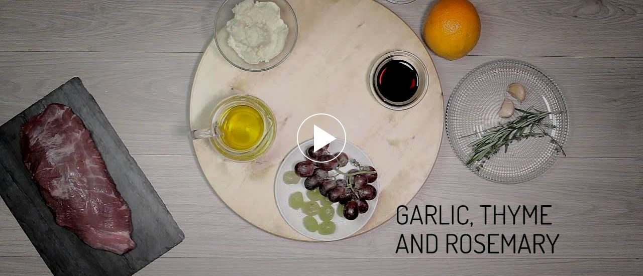 Embedded thumbnail for Soya-marinaded pork with cottage cheese and grapes
